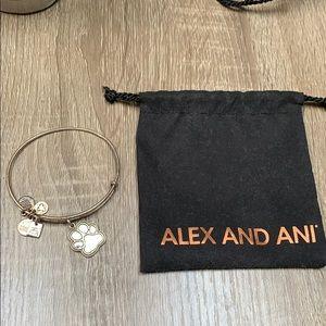 Alex and Ani paw bangle bracelet